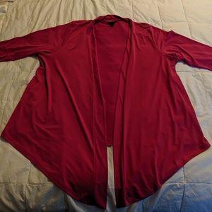 Torrid pink drape front cardigan